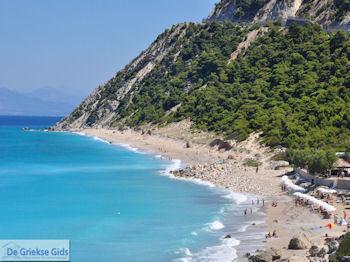 Pefkoulia strand ten noorden van Agios Nikitas foto 1 - Lefkas (Lefkada) - Foto van De Griekse Gids
